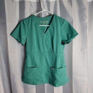 Grey's Anatomy by Barco green scrub top sz S